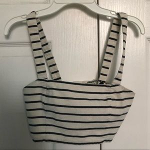 Tops - Striped tank top/bralette
